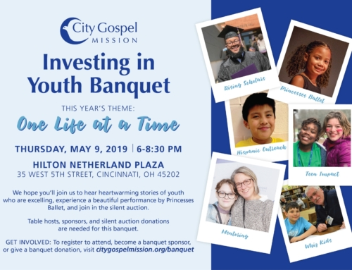 You're Invited to City Gospel Mission's Investing in Youth Banquet