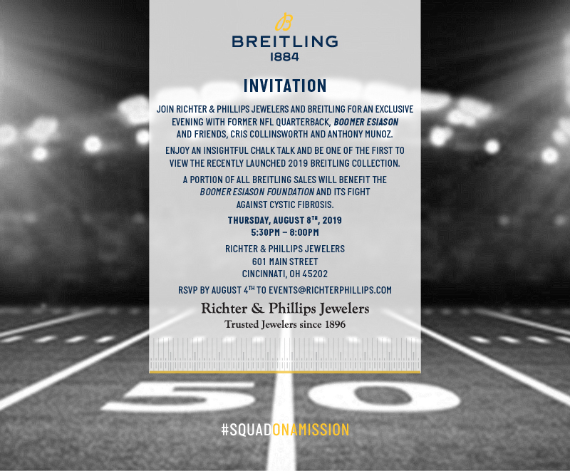 You Are Invited To Join Boomer Cris Collinsworth And